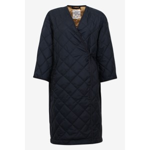 Daenerys Tie Wst Quilted Coat Sky Captain Blue