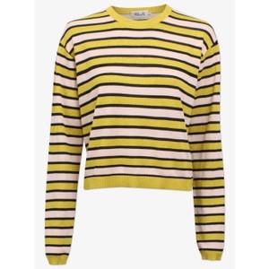 Carmelia Lurex Stripe Jumper Yellow/Vanilla