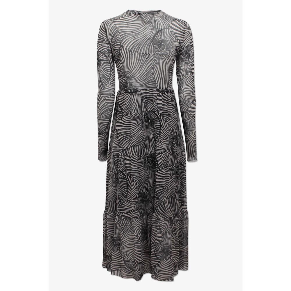 Baum Und Pferdgarten Jocelina L/S Printed Dress Black Tiger Shell