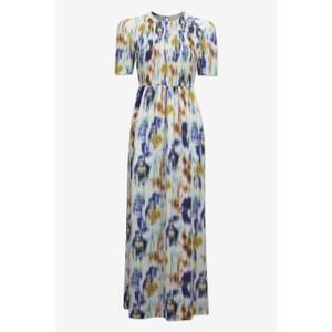 Baum Und Pferdgarten Adamaris S/S Floral Blur Dress White/Multi