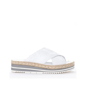 Milan X-Over Weave Sandal White