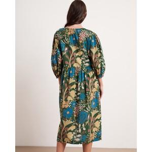 Velvet Virginia Bln Slv Printed Dress Green/Multi