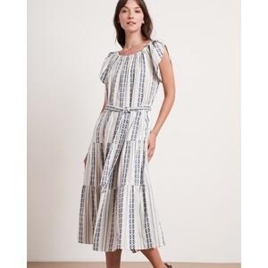 Tian Elst Wide Nk Print Dress Ocean