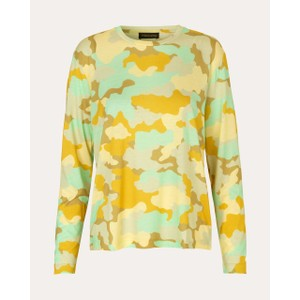 Caleb L/S Round Nk Top Camouflage Green