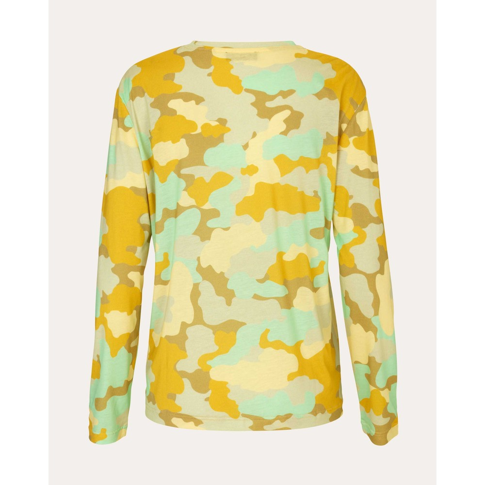 Stine Goya Caleb L/S Round Nk Top Camouflage Green