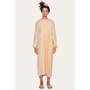 Elia L/S Half Button Dress Rainbow