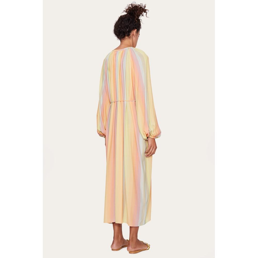 Stine Goya Elia L/S Half Button Dress Rainbow