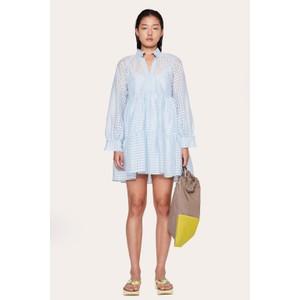 Jasmine L/S Gingham Dress Ice