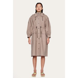 Mary Hooded Coat Putty