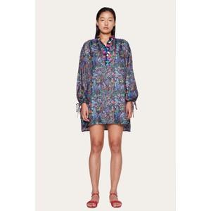 Neva Short Silk Tunic Dress Wildflowers