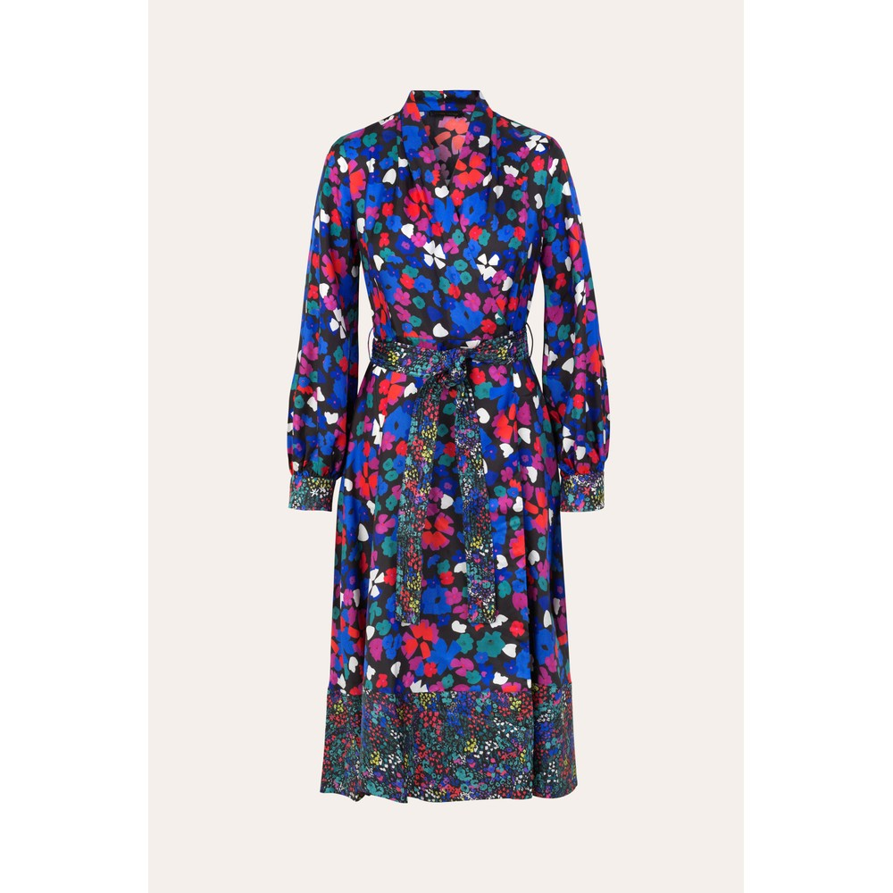 Stine Goya Reflection Silk Wrap Dress Wildflowers