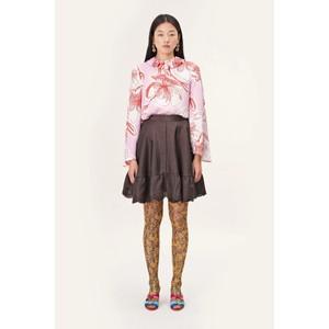 Poppy Frill Neck Blouse Jasmine Pink