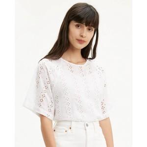 S/S Eyelet Crop Top Alejandra White