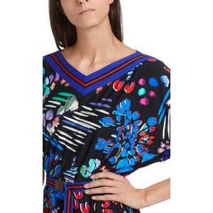Marc Cain Floral Print Dress Midnight