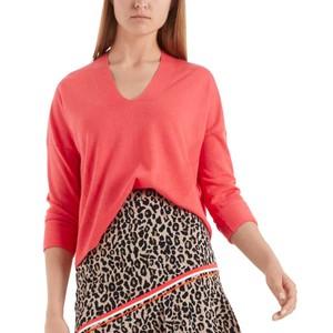 V/Nk Fine Knit Sweater Light Red