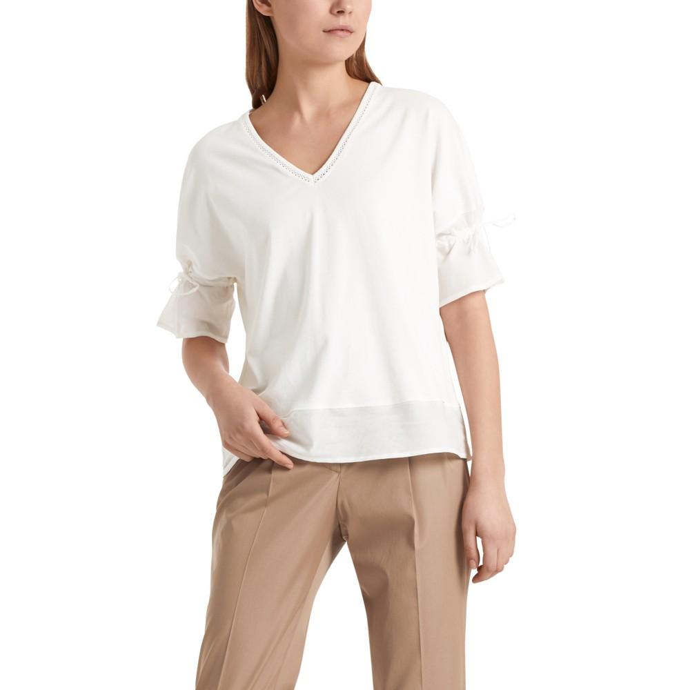 Marc Cain V/N Detail T/Shirt Off White