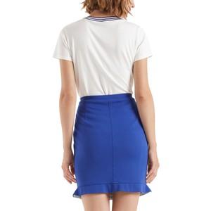 Marc Cain S/S Stripe Neck T-Shirt Off White