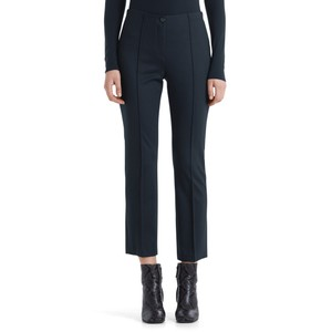 Marc Cain Slim Fit Trousers Front Zip Navy