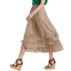 A line Print Skirt Clay