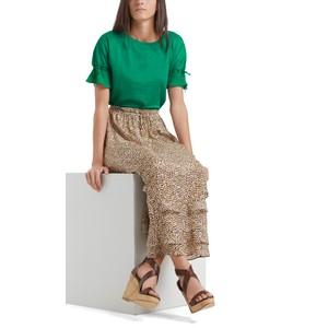 Marc Cain A line Print Skirt Clay