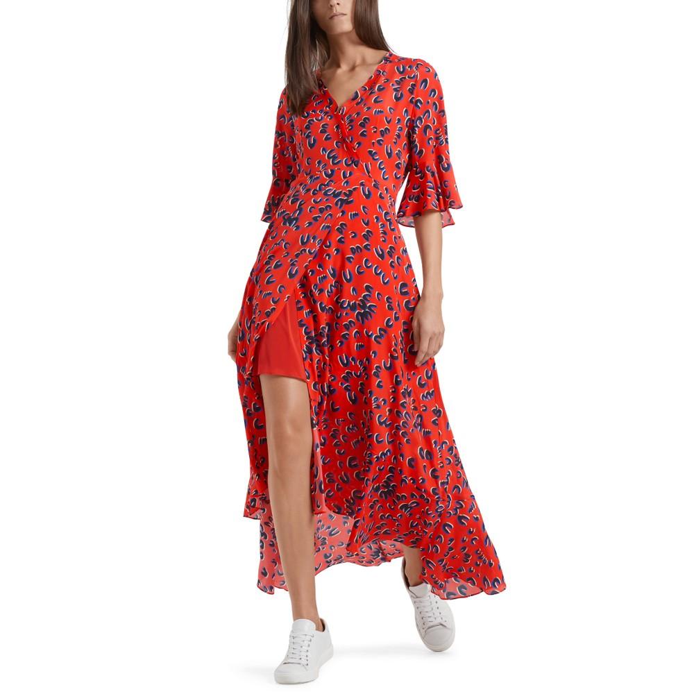Marc Cain Long V/N Wrap Dress Candy Apple