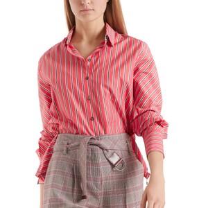 Stripe Shirt w/ D String Btm Light Red