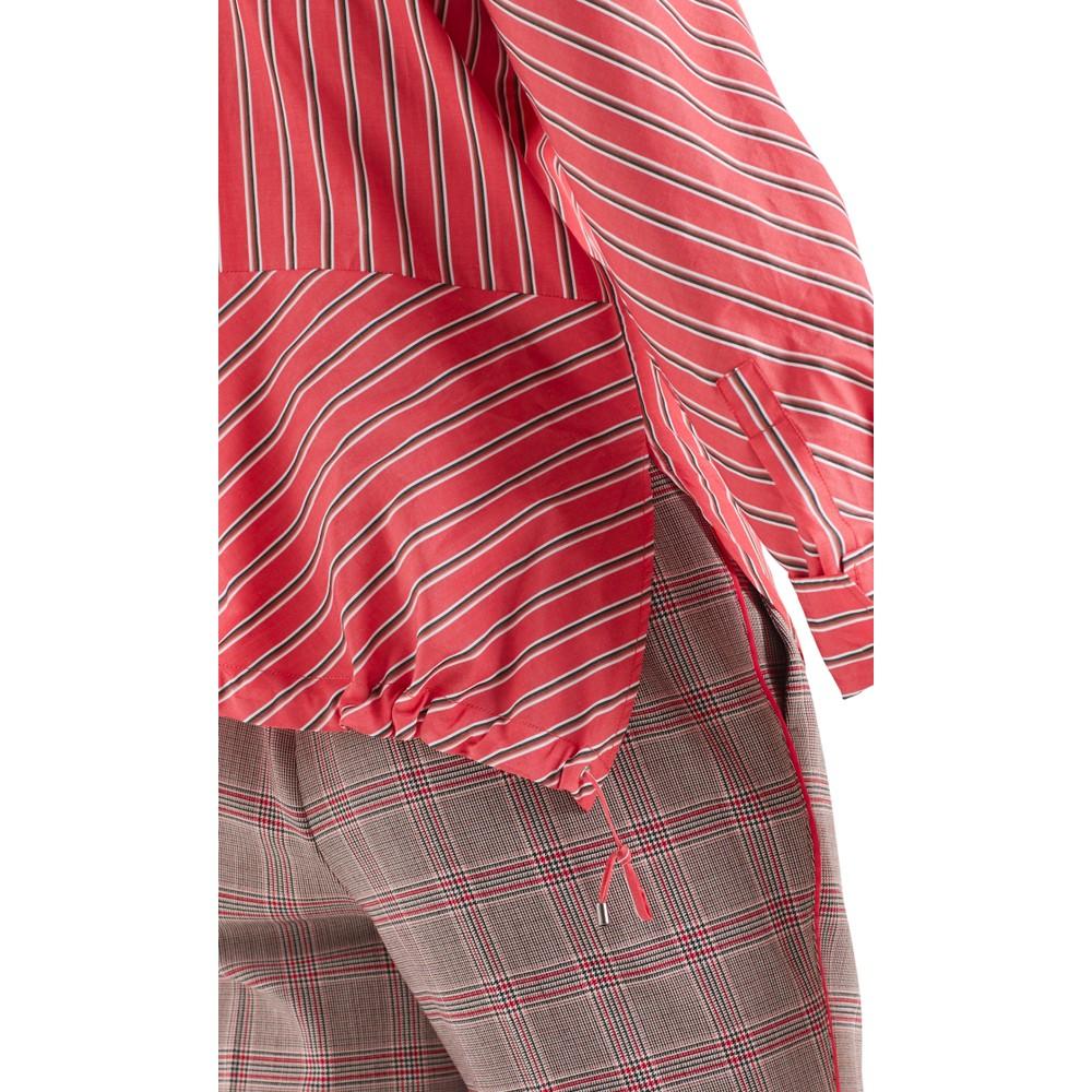 Marc Cain Stripe Shirt w/ D String Btm Light Red
