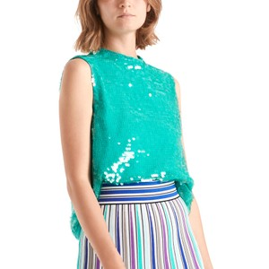 Slv Sequin Top Curacao