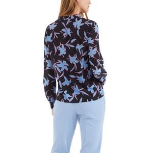 Marc Cain Floral Silk Blouse Gouache