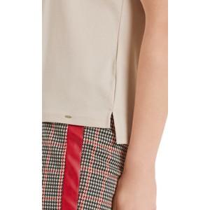 Marc Cain S/S Stripe Neck T-Shirt Cuban Sand