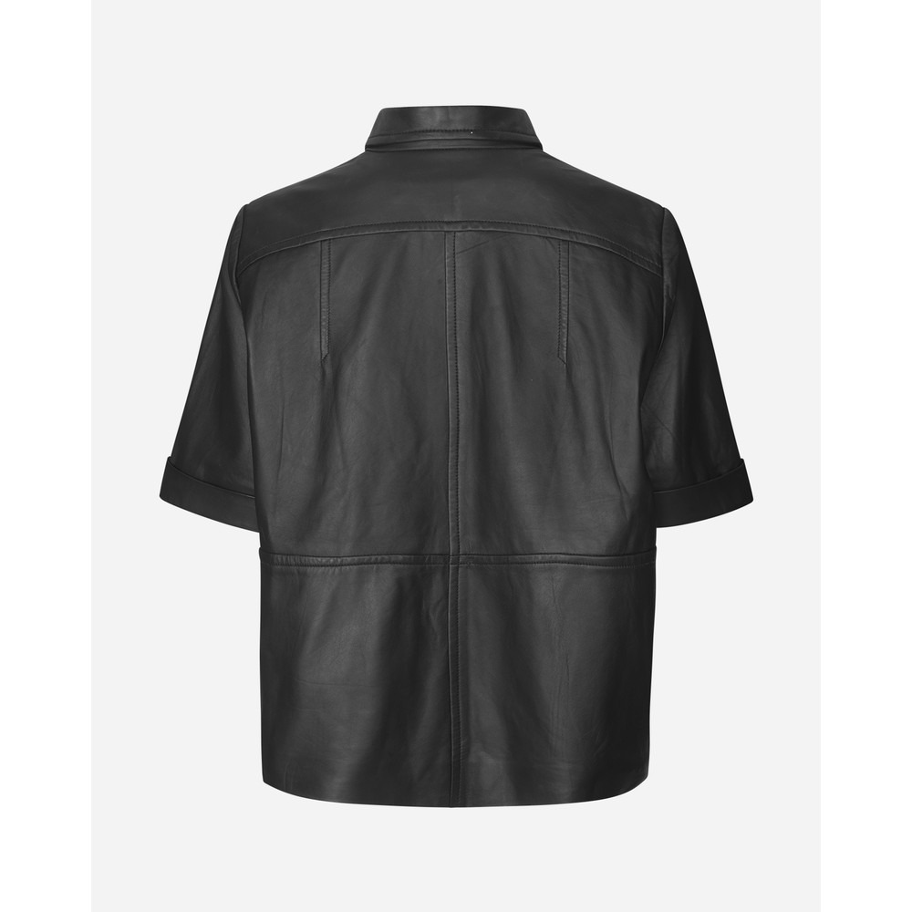 Munthe Meaning S/S Leather Top Black