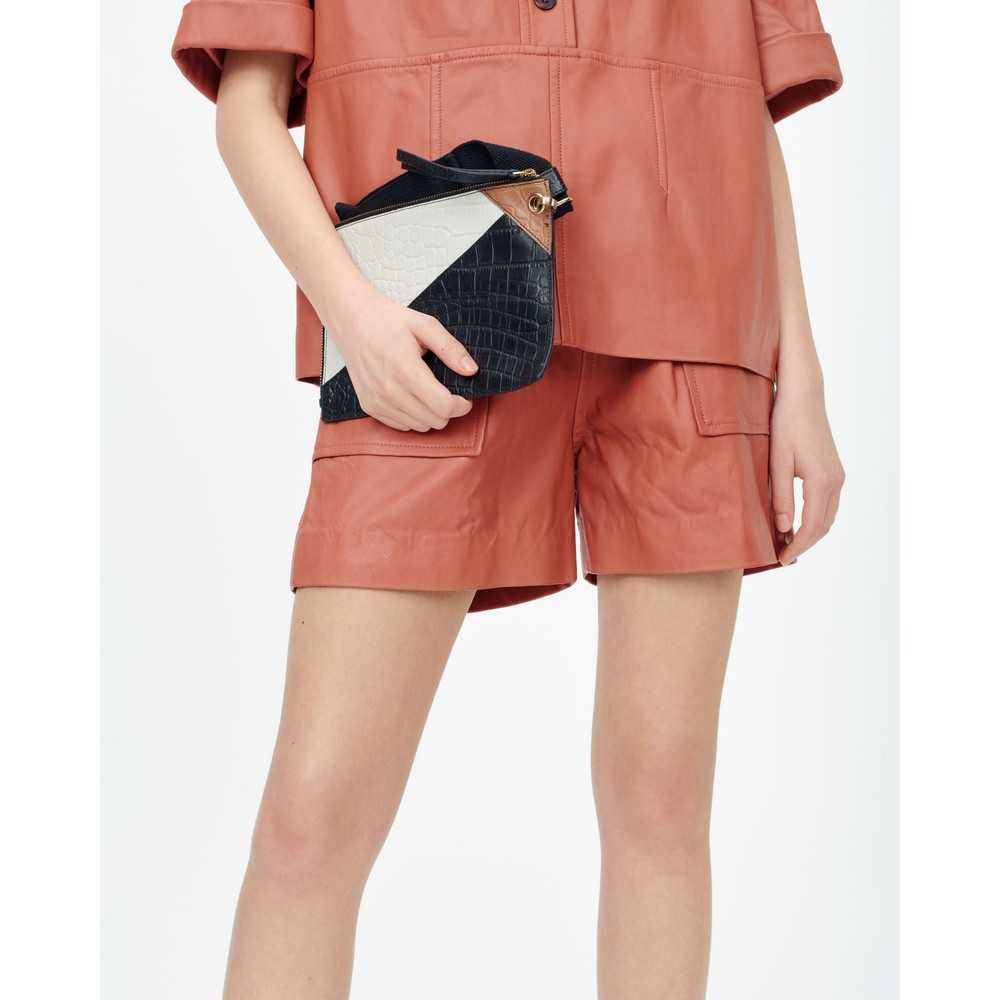 Munthe Meanwhile Leather Shorts Sienna