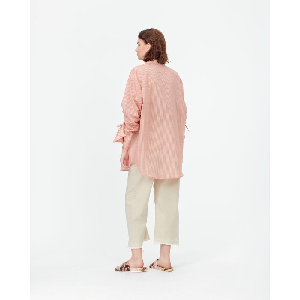 Munthe Melia Stripe O/Sized Tunic Top Sienna