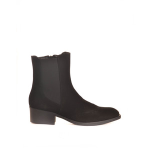 Trieste Ankle Boot with Stretch Sides Black