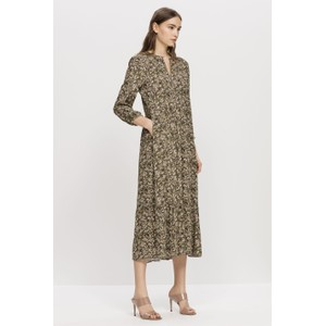Floral Print Maxi Dress Olive/Multi