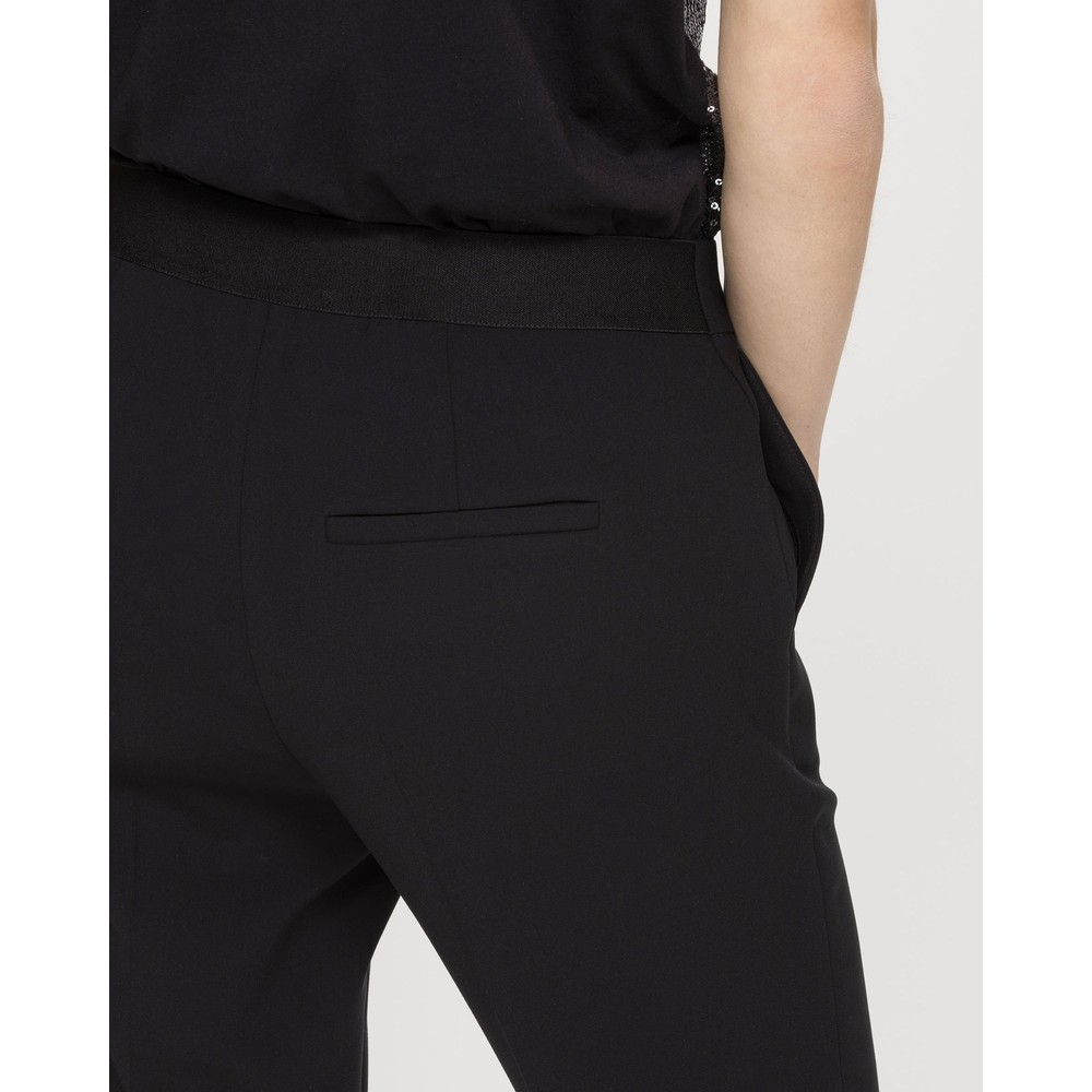 Luisa Cerano Slim Tailored Trousers Black