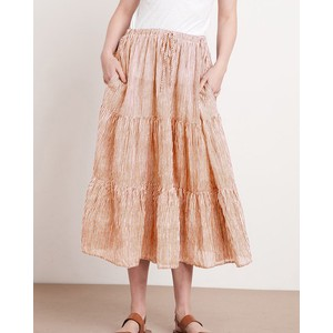Dina Stripe Midi Skirt Tan/Natural