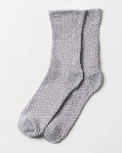 Becksondergaard Dina Small Dots Sock Silver Grey