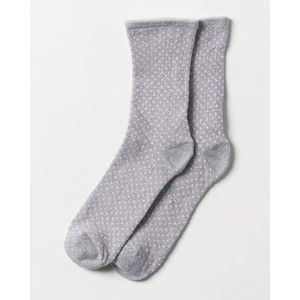 Dina Small Dots Sock Silver Grey