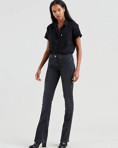 Levis 315 Shaping Bootcut 34in Leg New Ultra Black