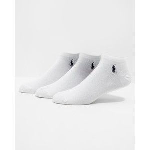 3Pk Solid Low Cut Socks White/Polo Black
