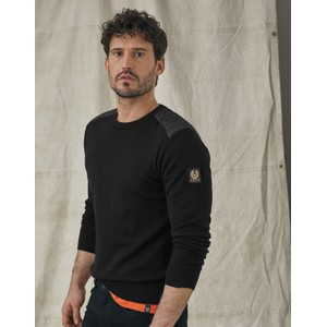 Belstaff Kerrigan Crew Neck Knit Black