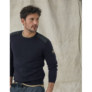 Belstaff Kerrigan Crew Neck Knit in Washed Navy