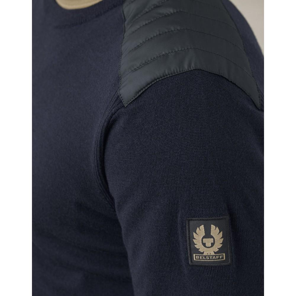 Belstaff Kerrigan Crew Neck Knit Washed Navy