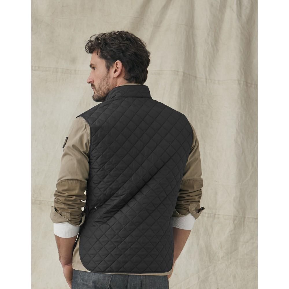 Belstaff Quilted Waistcoat-Lightweight Black