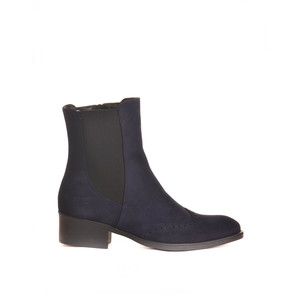 Trieste Ankle Boot with Stretch Sides Navy