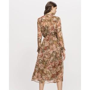 Luisa Cerano Sheer Silk Floral Dress-W Slip Blush/Multi