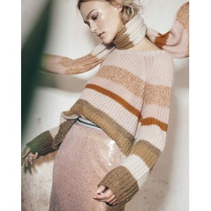 Striped Loose Knit Jumper Blush/Multi