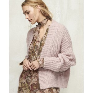Cropped Open Mohair Cardi Blush