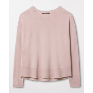 Luisa Cerano Wide Fit Curve Hem Jumper Pale Pink